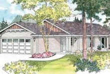 Ranch Exterior - Front Elevation Plan #124-591