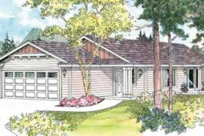 Home Plan - Ranch Exterior - Front Elevation Plan #124-591
