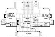 Farmhouse Style House Plan - 2 Beds 2 Baths 1299 Sq/Ft Plan #929-35 Floor Plan - Main Floor