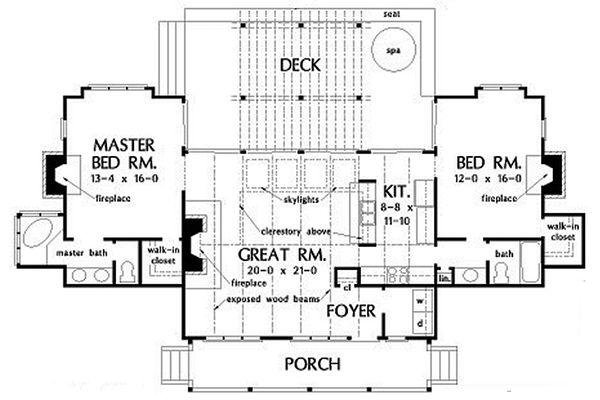 Farmhouse Floor Plan - Main Floor Plan Plan #929-35