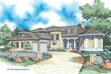 House Plan Design - Mediterranean Exterior - Front Elevation Plan #930-334