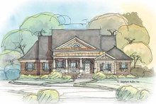 Home Plan - Colonial Exterior - Front Elevation Plan #429-412