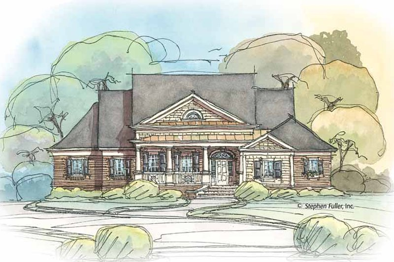 House Plan Design - Colonial Exterior - Front Elevation Plan #429-412