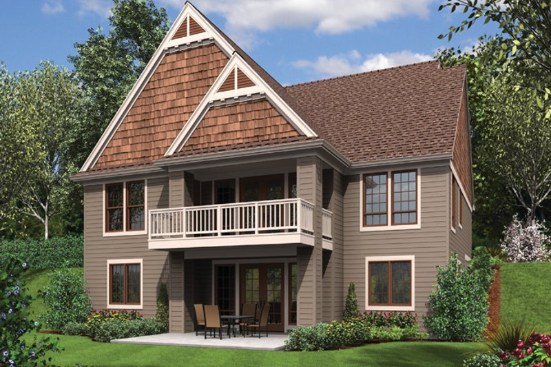Craftsman Exterior - Rear Elevation Plan #48-899 - Houseplans.com