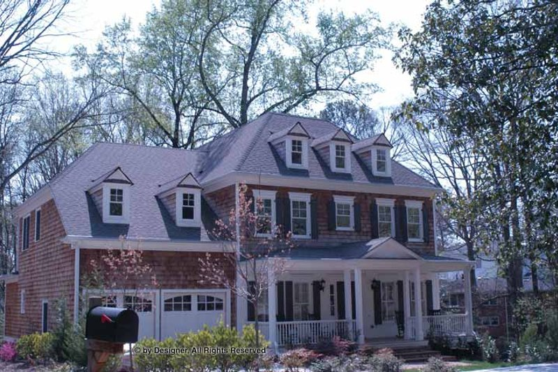 Home Plan - Colonial Exterior - Front Elevation Plan #54-357