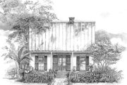 Southern Style House Plan - 3 Beds 2.5 Baths 1508 Sq/Ft Plan #301-111 Exterior - Front Elevation