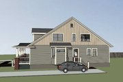 Traditional Style House Plan - 3 Beds 2 Baths 2676 Sq/Ft Plan #79-245 Exterior - Rear Elevation