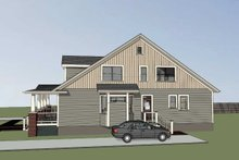 House Plan Design - Traditional Exterior - Rear Elevation Plan #79-245