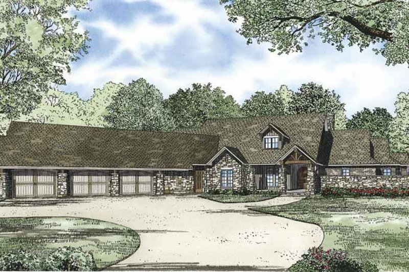 Dream House Plan - Ranch Exterior - Front Elevation Plan #17-3327