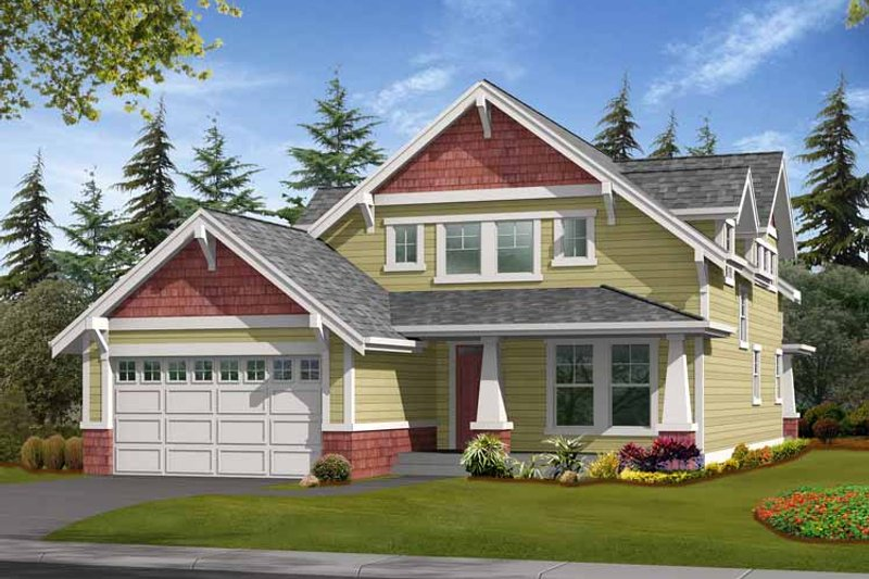 Craftsman Exterior - Front Elevation Plan #132-358