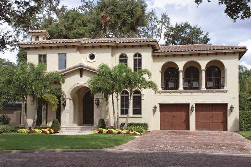 Dream House Plan - Mediterranean Exterior - Front Elevation Plan #1019-3