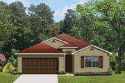 Mediterranean Style House Plan - 4 Beds 2 Baths 1908 Sq/Ft Plan #1058-56 Exterior - Front Elevation