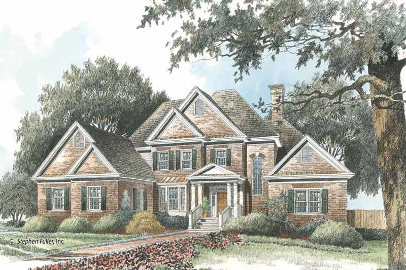 Colonial Exterior - Front Elevation Plan #429-414