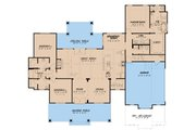 Craftsman Style House Plan - 3 Beds 2.5 Baths 2269 Sq/Ft Plan #923-133 Floor Plan - Main Floor