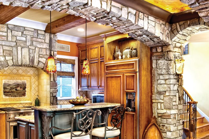 Mediterranean Interior - Kitchen Plan #930-70 - Houseplans.com