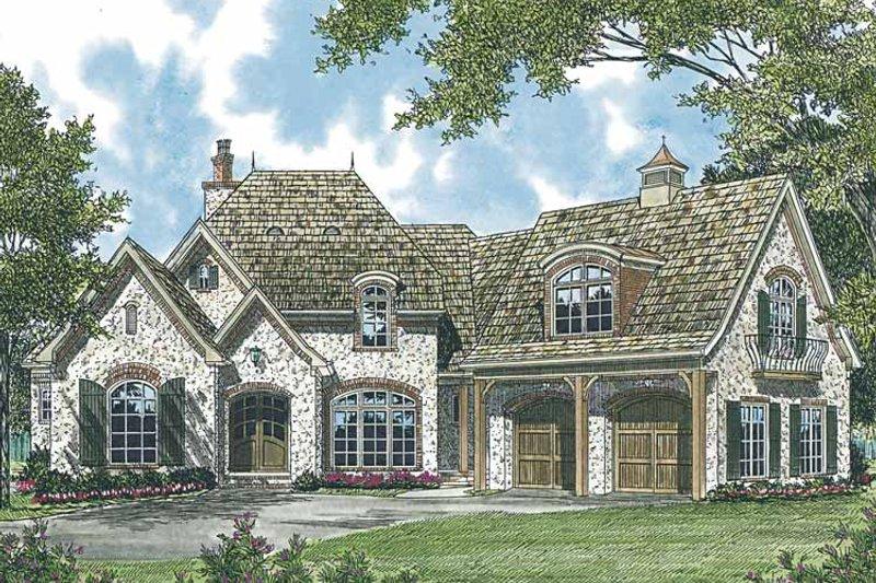 European Exterior - Front Elevation Plan #453-543 - Houseplans.com
