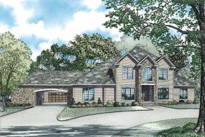 House Plan Design - Traditional Exterior - Front Elevation Plan #17-2956