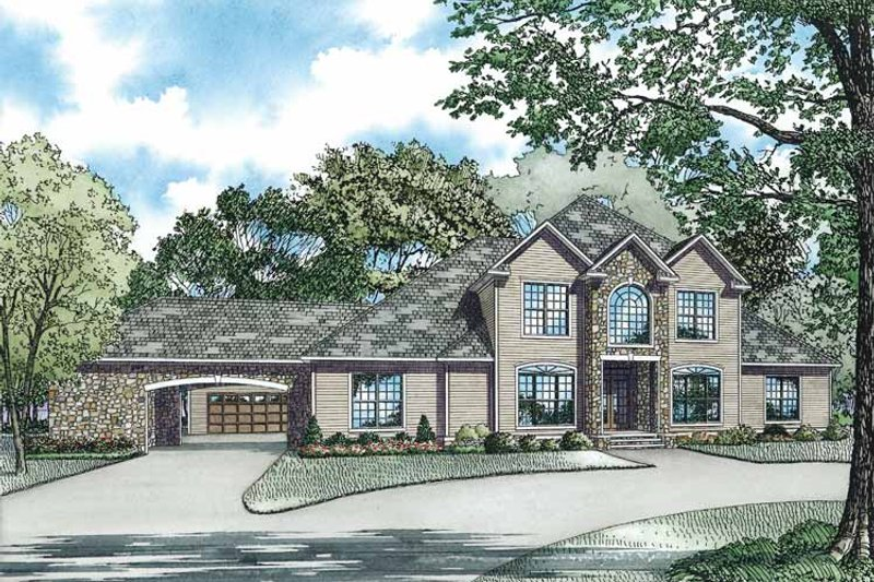 Architectural House Design - Traditional Exterior - Front Elevation Plan #17-2956
