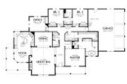 Traditional Style House Plan - 3 Beds 2.5 Baths 2650 Sq/Ft Plan #48-234 Floor Plan - Main Floor Plan