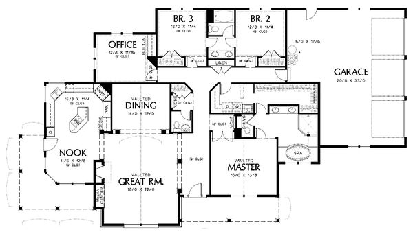 Traditional Floor Plan - Main Floor Plan Plan #48-234