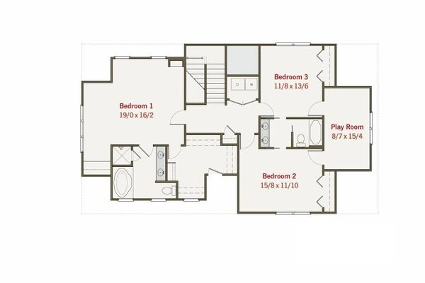 Craftsman Floor Plan - Upper Floor Plan #461-11