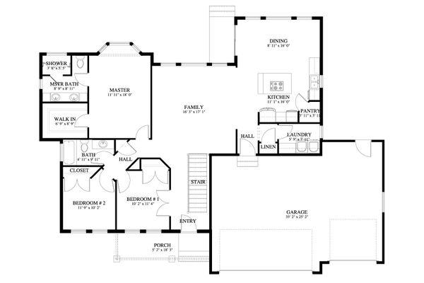 Traditional Floor Plan - Main Floor Plan #1060-56