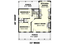 Traditional Floor Plan - Main Floor Plan Plan #44-223