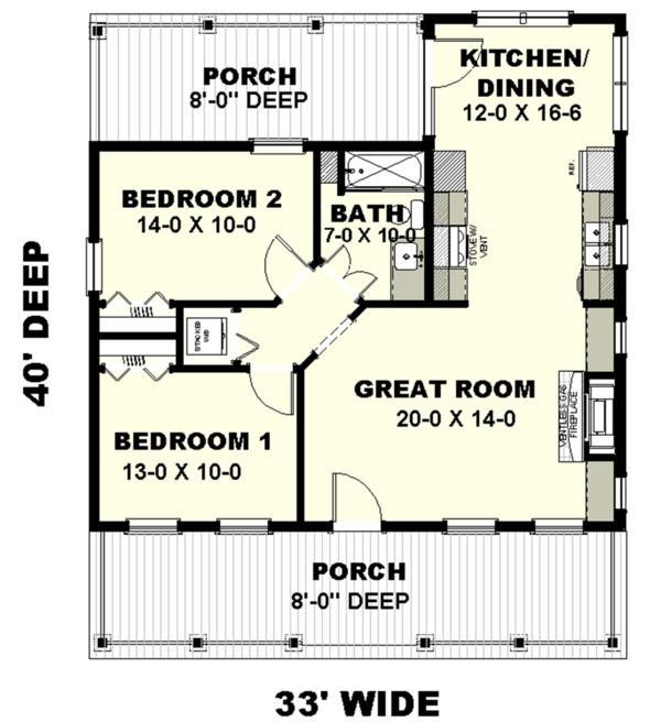 Traditional Floor Plan - Main Floor Plan #44-223