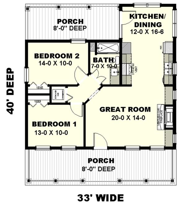 Home Plan - Traditional Floor Plan - Main Floor Plan #44-223