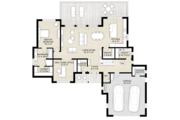 Contemporary Style House Plan - 3 Beds 2.5 Baths 2465 Sq/Ft Plan #924-13 Floor Plan - Main Floor Plan
