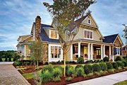 Craftsman Style House Plan - 4 Beds 5.5 Baths 3878 Sq/Ft Plan #927-5 Exterior - Front Elevation