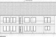 Traditional Style House Plan - 2 Beds 2 Baths 1559 Sq/Ft Plan #126-237 Exterior - Rear Elevation