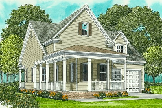 Farmhouse Exterior - Front Elevation Plan #413-792