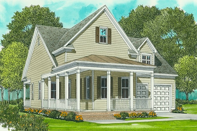Farmhouse Exterior - Front Elevation Plan #413-792 - Houseplans.com