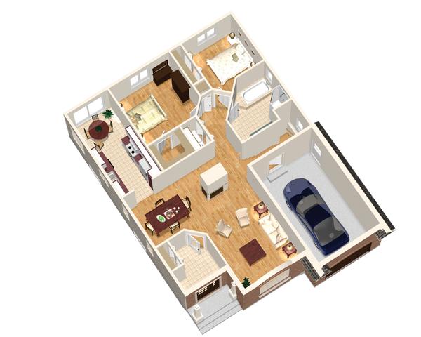 European Floor Plan - Main Floor Plan Plan #25-4653
