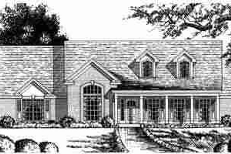 Traditional Exterior - Front Elevation Plan #40-226 - Houseplans.com