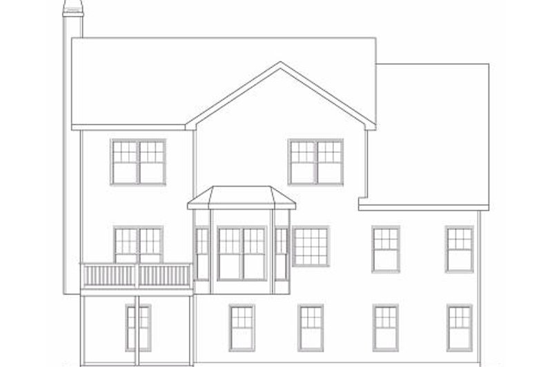 Craftsman Exterior - Rear Elevation Plan #419-158 - Houseplans.com