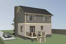 Dream House Plan - Craftsman Exterior - Rear Elevation Plan #79-299