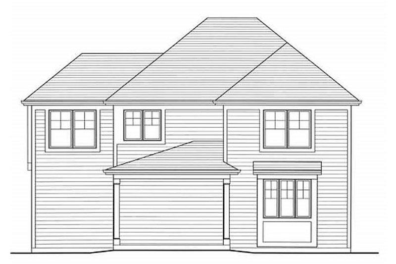 Colonial Exterior - Rear Elevation Plan #46-482 - Houseplans.com