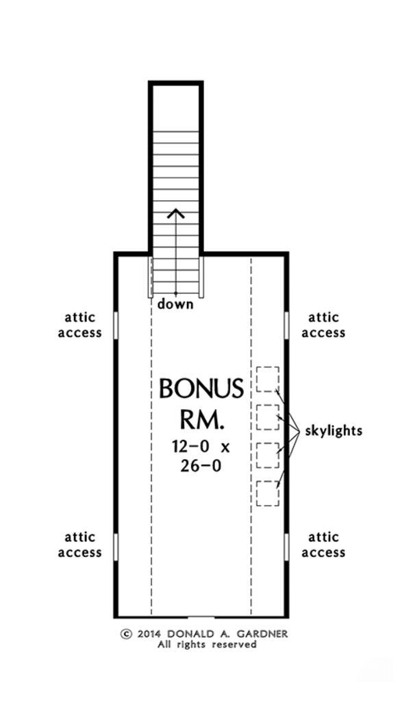 Craftsman Floor Plan - Other Floor Plan Plan #929-978