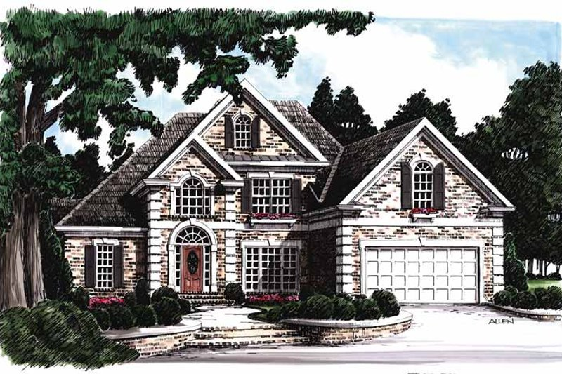 Traditional Exterior - Front Elevation Plan #927-70
