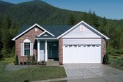 Traditional Style House Plan - 3 Beds 2 Baths 1268 Sq/Ft Plan #57-180