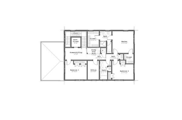 Craftsman Floor Plan - Upper Floor Plan Plan #926-5