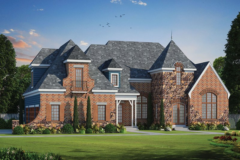 Dream House Plan - European Exterior - Front Elevation Plan #20-2203