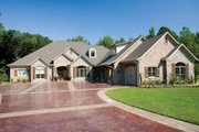European Style House Plan - 3 Beds 3.5 Baths 4121 Sq/Ft Plan #17-628 Exterior - Front Elevation