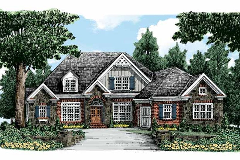 Traditional Exterior - Front Elevation Plan #927-324 - Houseplans.com