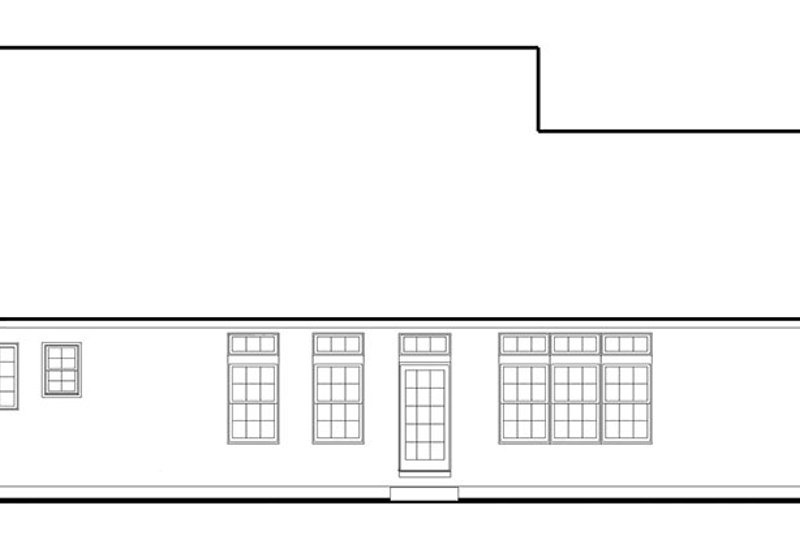 Colonial Exterior - Rear Elevation Plan #1053-68 - Houseplans.com