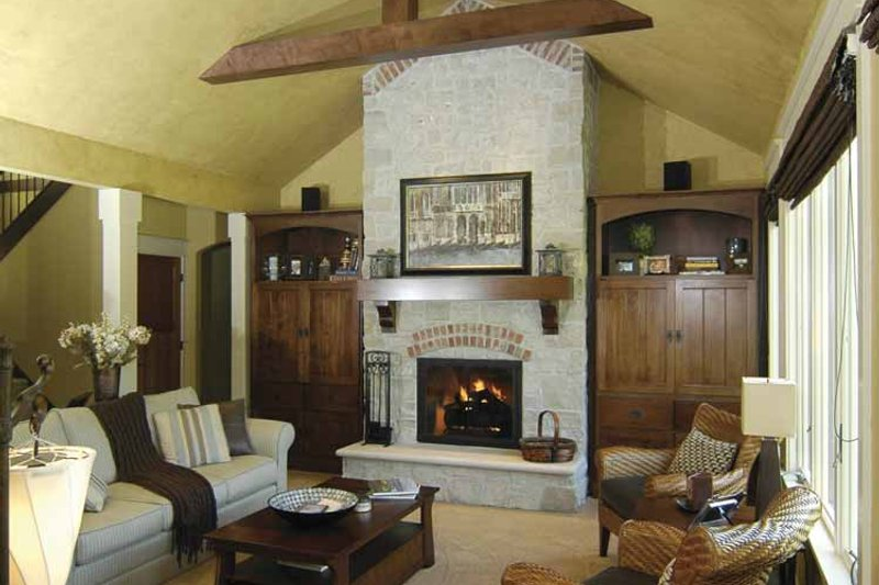 Cottage Interior - Family Room Plan #928-52 - Houseplans.com