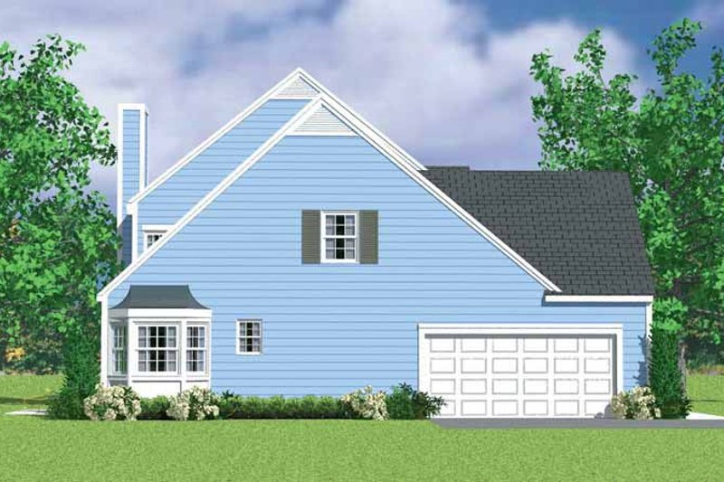 Colonial Exterior - Other Elevation Plan #72-1122 - Houseplans.com