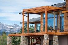 Architectural House Design - Prairie Exterior - Rear Elevation Plan #1042-17